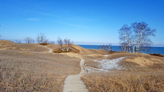 The Dunes Cordwalk travels through Kohler-Andrae State Park in Sheboygan.