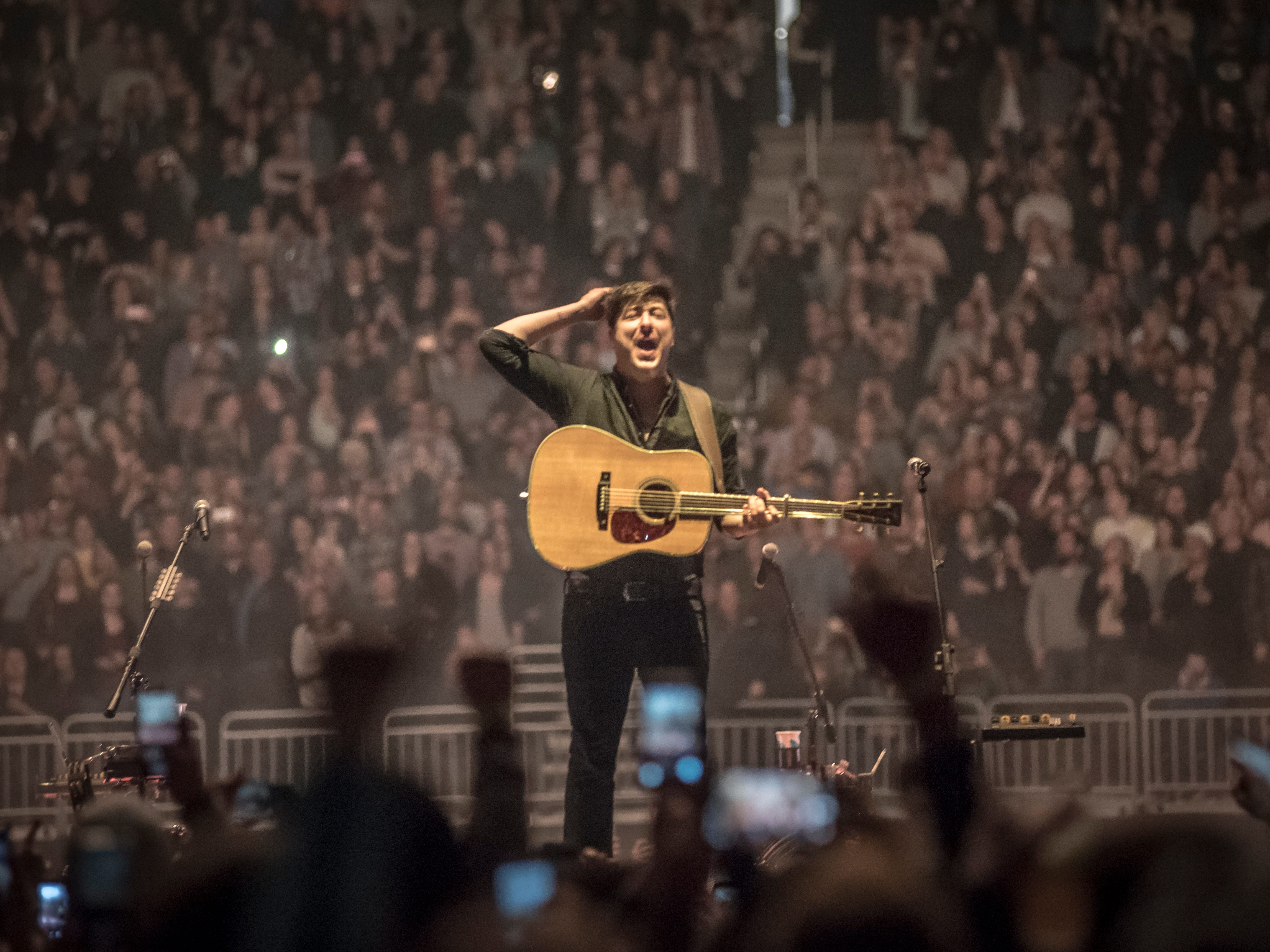 "Mumford & Sons wrap up the first North American leg of their ""Delta"" tour at Fiserv Forum in Milwaukee on March 31, 2019."