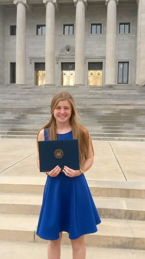 Mountain Home High School junior Bella Bevel attended U.S. Senator John Boozman's Congressional Youth Cabinet on Friday, March 29, at the Capitol in Little Rock.