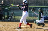 The last out of the Montville vs Mendham NJAC-National softball game is shown, Monday, April 1, 2019