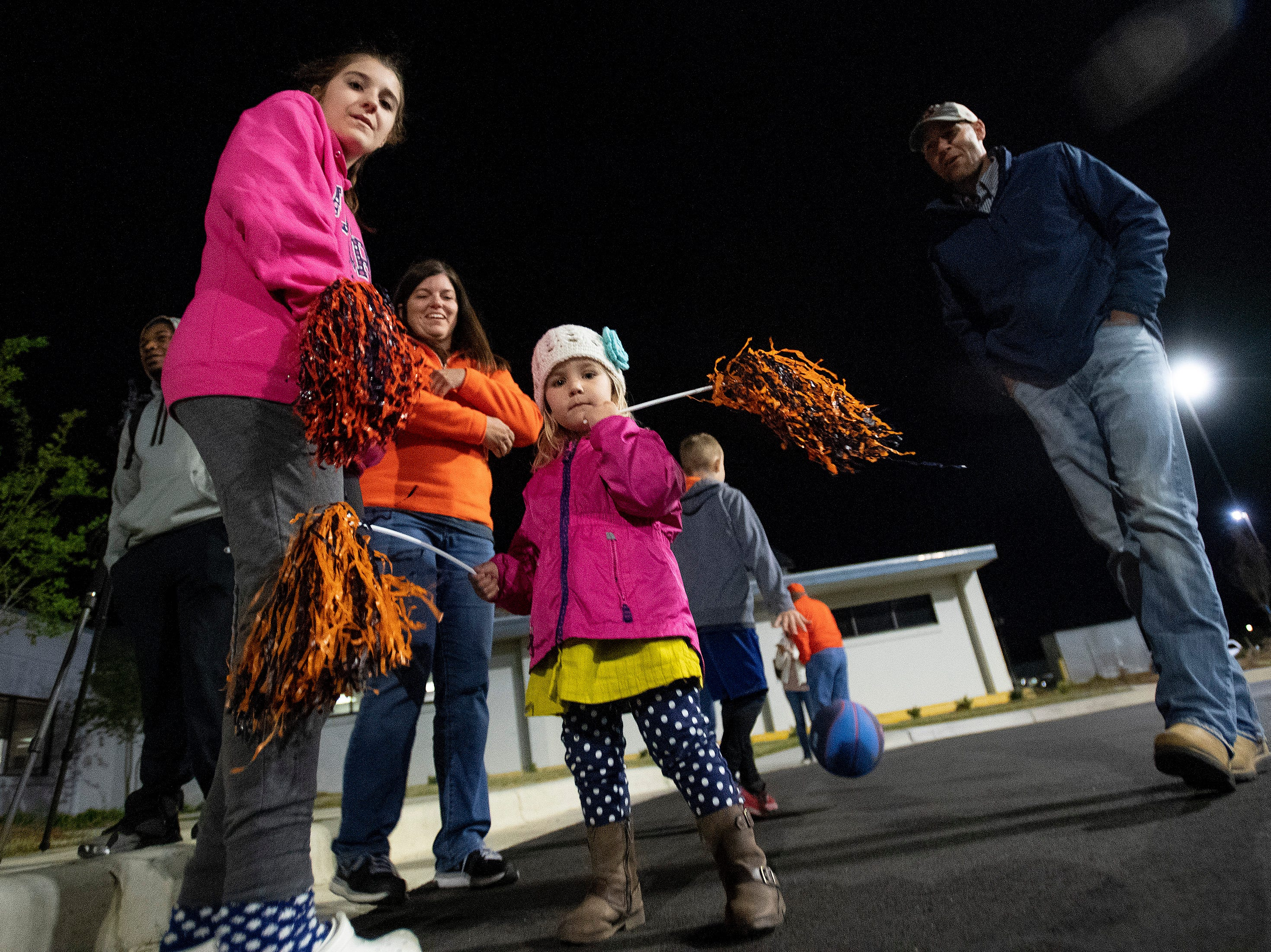 Fans wait for the Auburn men's basketball team to arrive at the Montgomery, Ala., airport on Sunday evening March 31, 2019 after defeating Kentucky in Kansas City to advance to the NCAA Basketball Final Four next weekend.