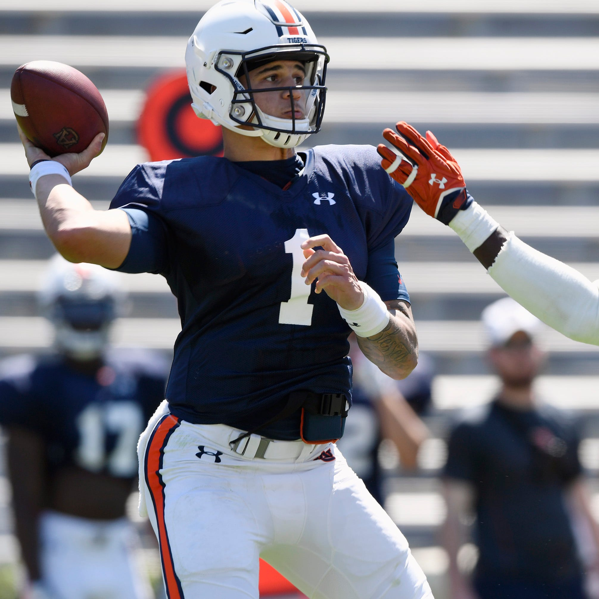 Gus Malzahn 'a lot more comfortable' with Auburn quarterbacks as spring practice nears close