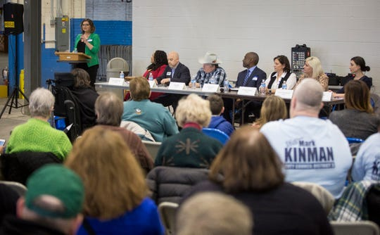 Democratic candidates for mayoral, judge and city clerk all met for a forum on Sunday night inside Madjax so the public could get to know the candidates better.