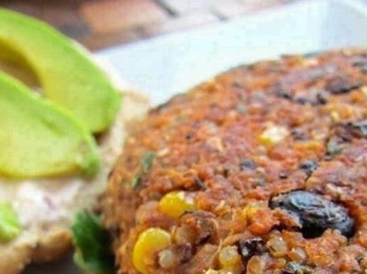 Juicy's Wellness Cafe black bean burger is made from scratch.