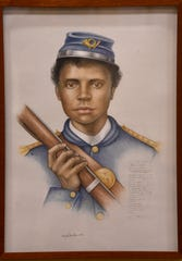 James Tall was born in Murfreesboro in 1845. He was an escaped slave when he joined the United States Colored Troops in 1864. The sketch of Tall is part of a new exhibit at Fort Negley visitor center that features portraits of 17 African-American men who served as soldiers in the Civil War.