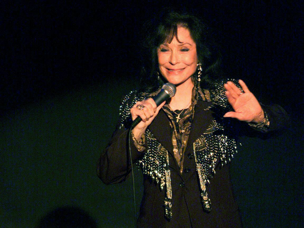 Loretta Lynn energized the audience with her performance April 4, 2000 at the Ryman Auditorium as part of the Tin Pan South Legendary Songwriters Acoustic concert.