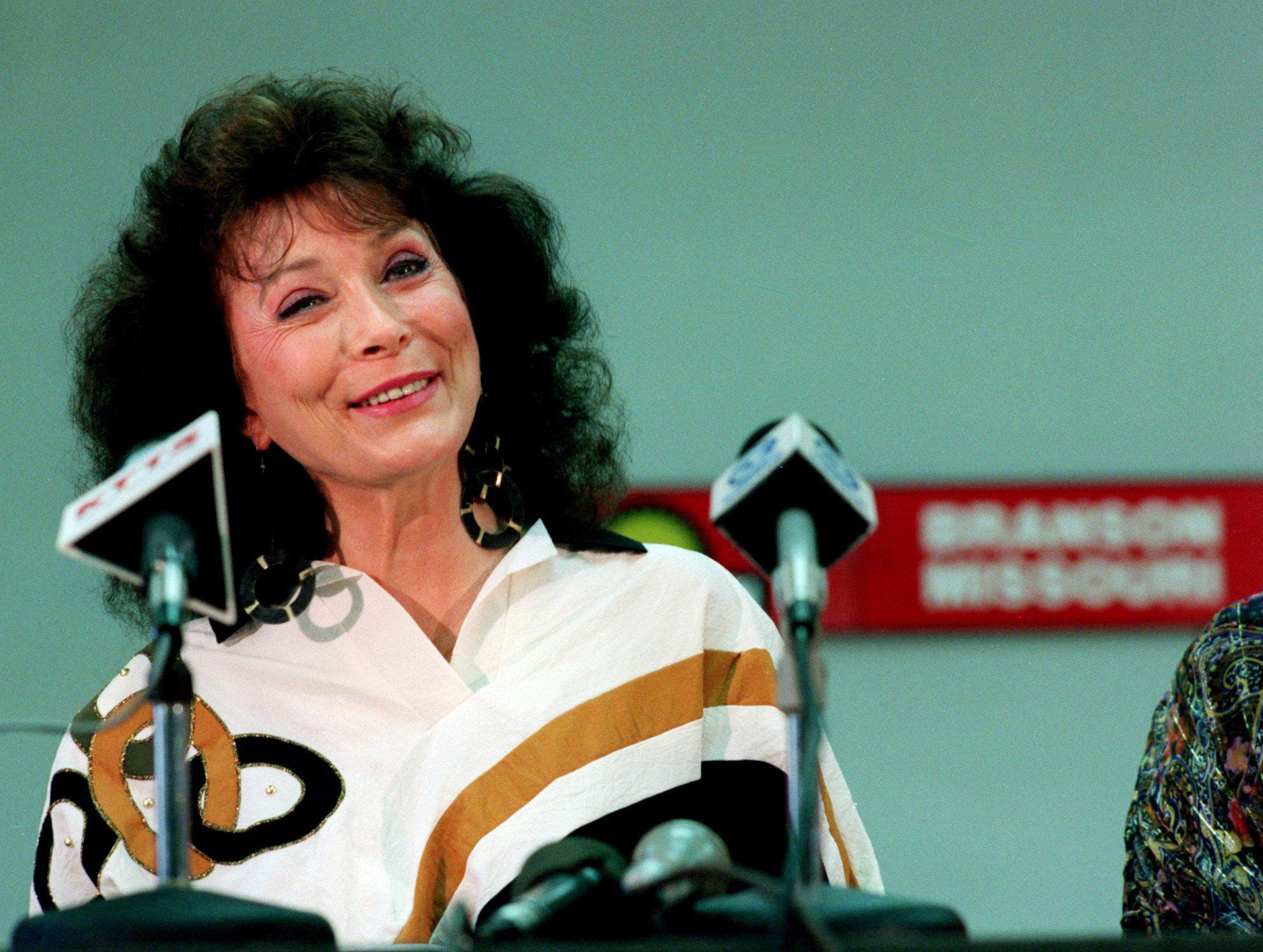 Loretta Lynn is holding a press conference in Branson, Missouri, Sept. 23, 1991 to make the announcement about her plans to perform in that city during the Christmas holidays. She is thinking about a more permanent move there.