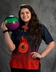Sarah Sanes, Blackman bowler Monday, March 26, 2018 in Nashville, Tenn.
