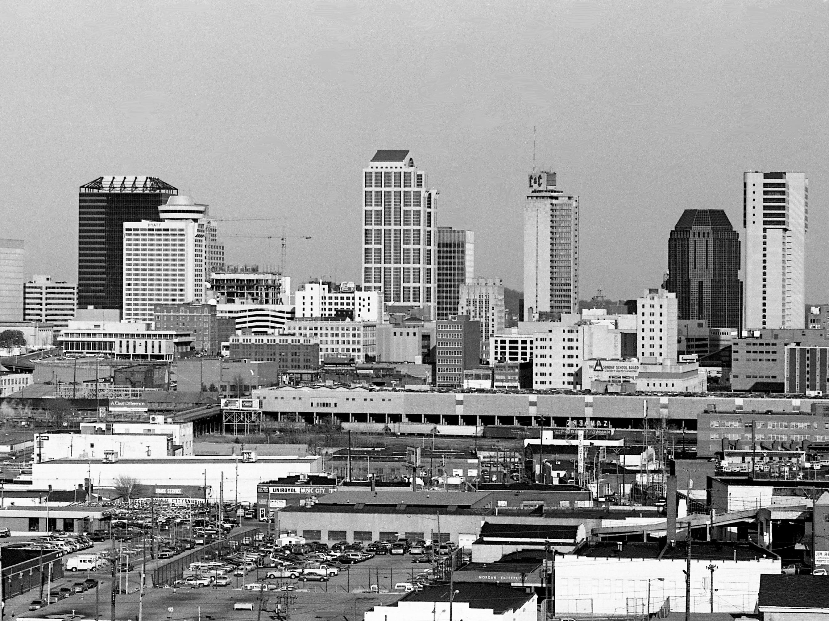 A view of the skyline of the downtown Nashville on a clear day Jan. 5, 1988 from the top of the 1808 West End Ave. building.