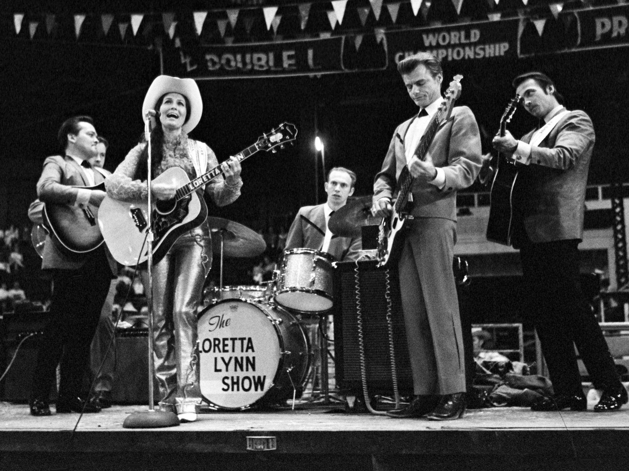 Mountain cowgirl Loretta Lynn is opening a summer-long stampede on May 13, 1969, at the Fairgrounds Coliseum with a performance during the Loretta Lynn Rodeo.