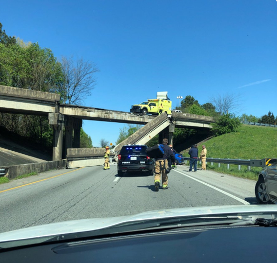 Interstate railing collapse in Chattanooga