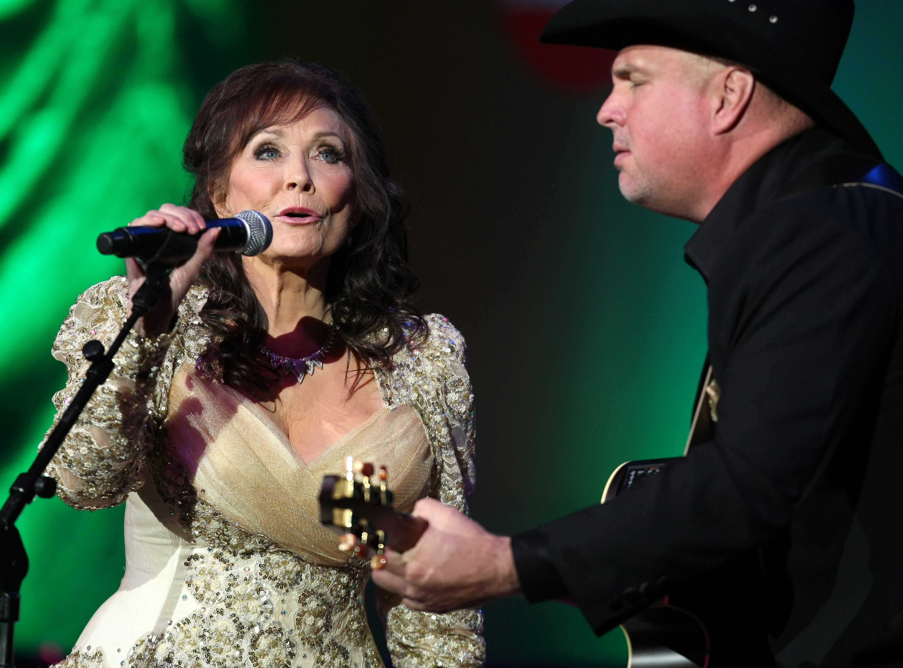 Loretta Lynn, left, and Garth Brooks perform at the GRAMMY Salute To Country Music¨ honoring Lynn at the Ryman Auditorium Oct. 12, 2010 in Nashville. Lynn was presented the Recording Academy President's Merit Award in honor of her dynamic career and contributions to country music.
