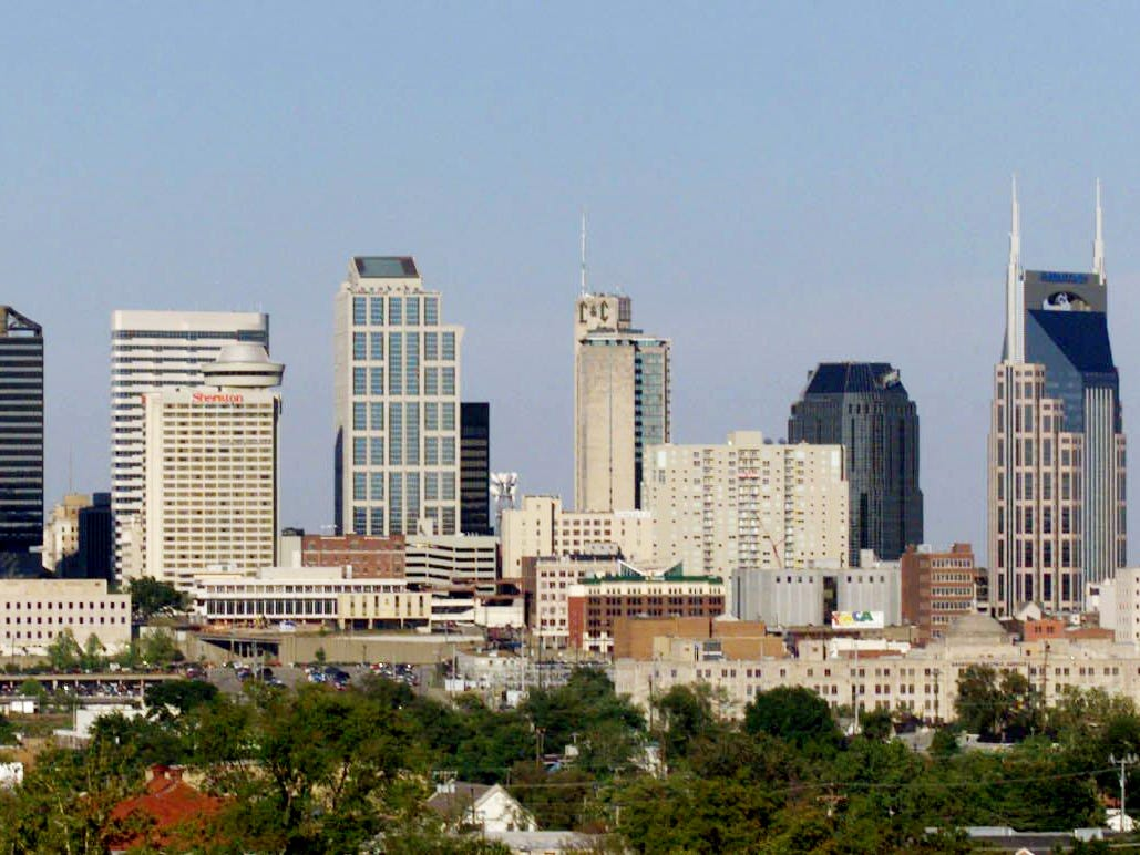 A view of the Nashville skyline on Sept. 15, 1999.