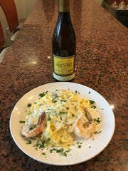 Sam-Bucco Bistro in North Naples now features Mexican Blue Shrimp served grilled with linguini and a roasted red pepper sauce