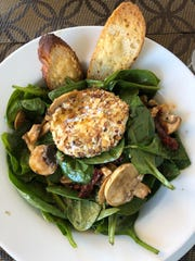 Crouton chevre de salade du epinards