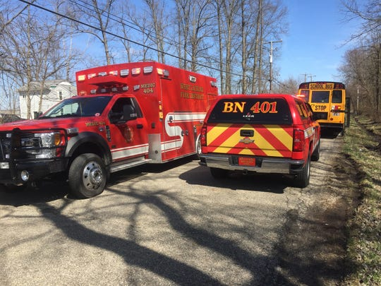 Police and EMS responded April 1 to a pulled over Licking Heights bus on Cleveland Road SW. Some students were made sick by another student's reported use of a vape pen.