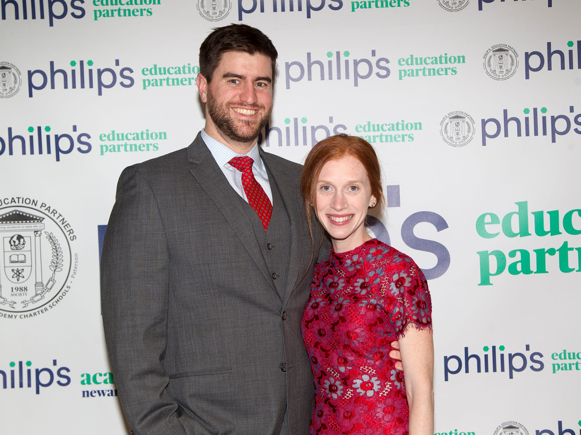 Matthew Mierswa, Regina Lauricella. Philip's Education Partners host The Dream Maker 30th anniversary gala at The Mezzanine in Newark 3/29/2019.