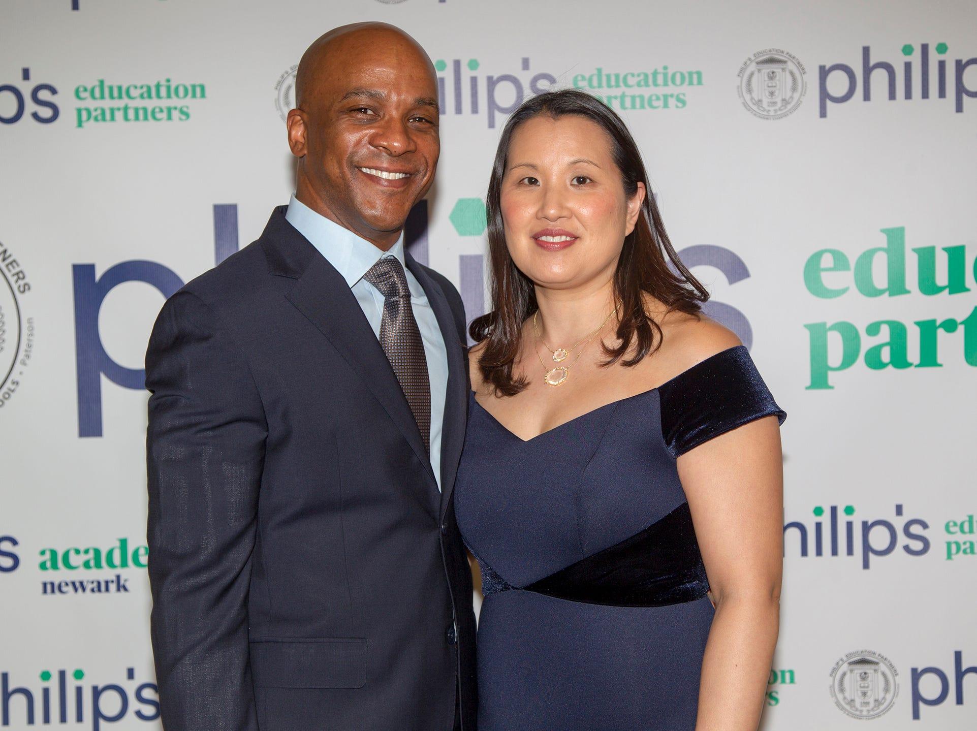 Jon and Gina Fortt. Philip's Education Partners host The Dream Maker 30th anniversary gala at The Mezzanine in Newark 3/29/2019.