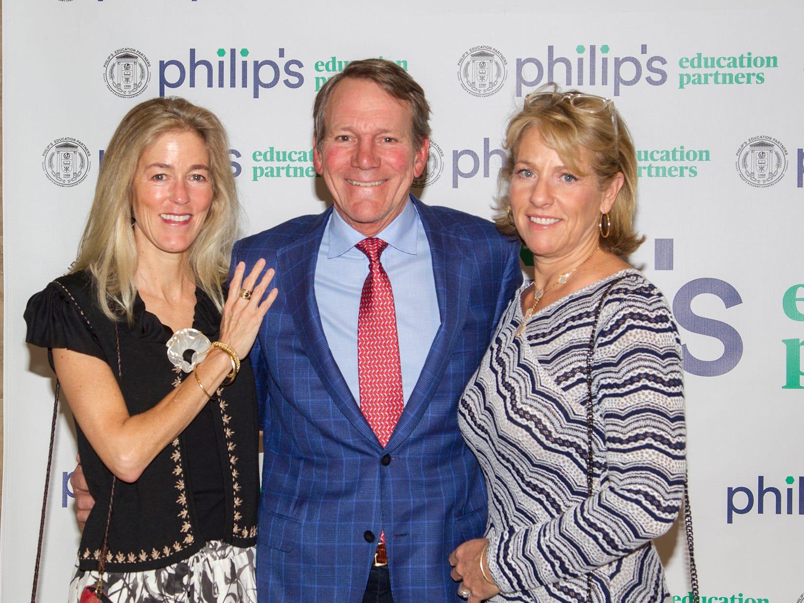 Betsy Walton, Scott and Tracey Biedron. Philip's Education Partners host The Dream Maker 30th anniversary gala at The Mezzanine in Newark 3/29/2019.