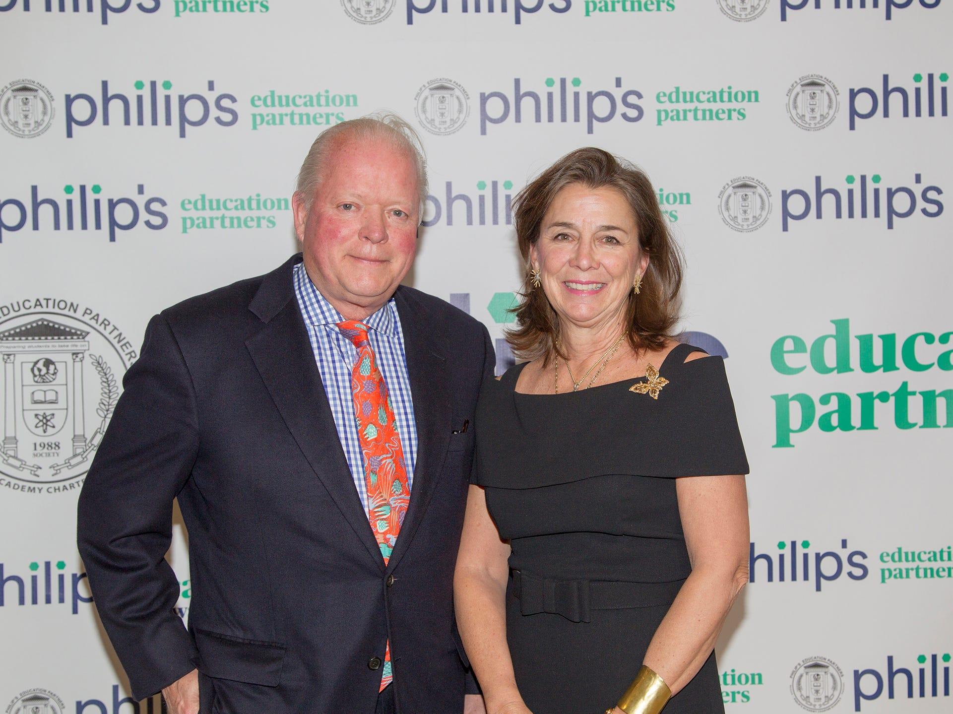 Curt and Cissy Viebranz. Philip's Education Partners host The Dream Maker 30th anniversary gala at The Mezzanine in Newark 3/29/2019.