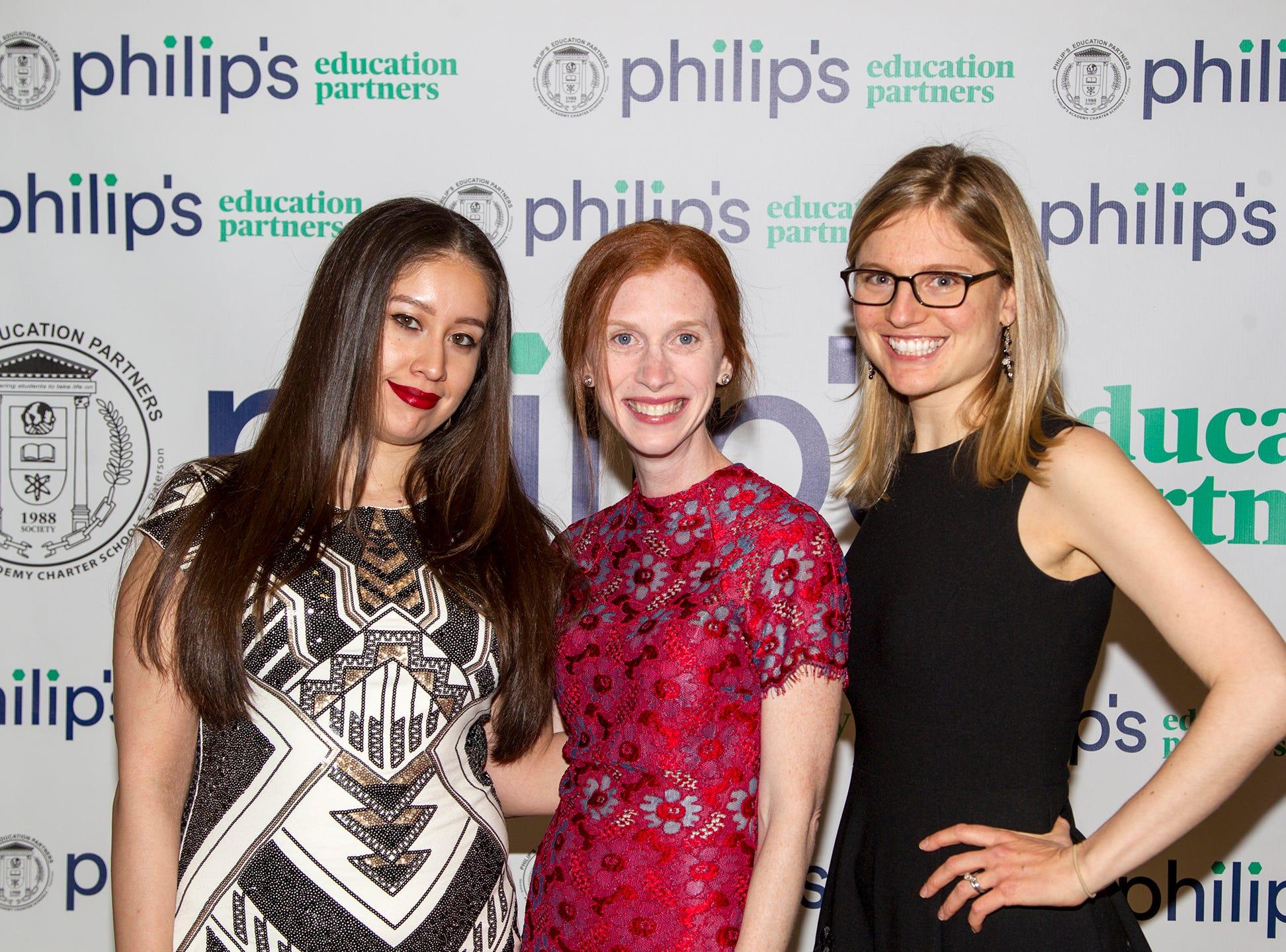 Priscilla Crespo, Regina Lauricella, Laura Kohler. Philip's Education Partners host The Dream Maker 30th anniversary gala at The Mezzanine in Newark 3/29/2019.
