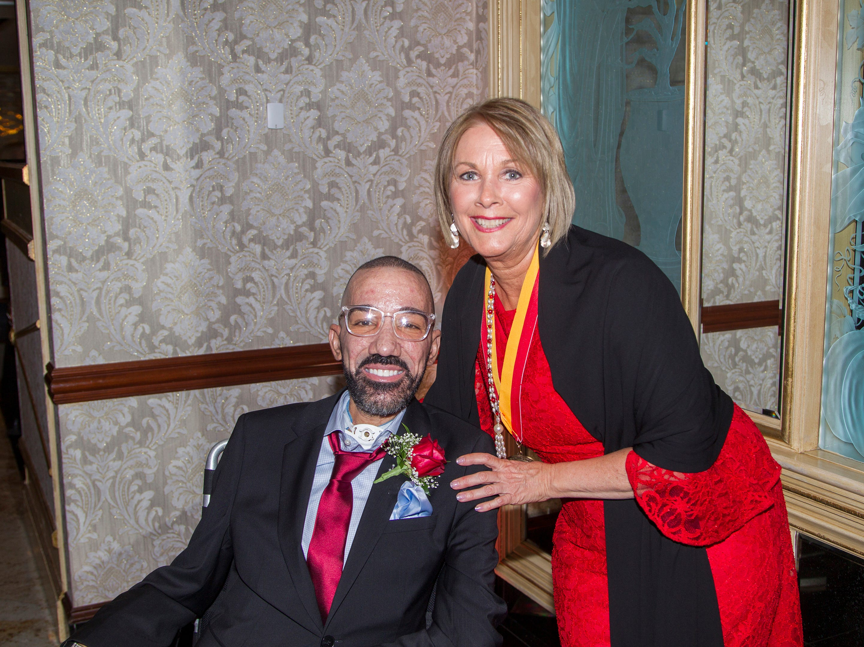 Honoree Christophe LaFontant, Marge Quinn. Bergen Catholic High School Hall of Fame Dinner at Seasons in Washington Twp. 03/31/2019