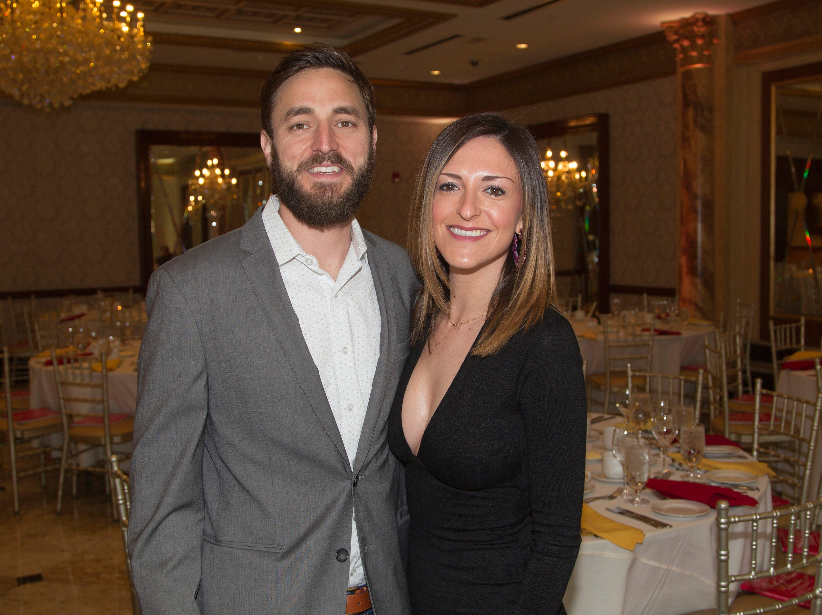 Colin Lamond, Jenna Silberfeld. Bergen Catholic High School Hall of Fame Dinner at Seasons in Washington Twp. 03/31/2019
