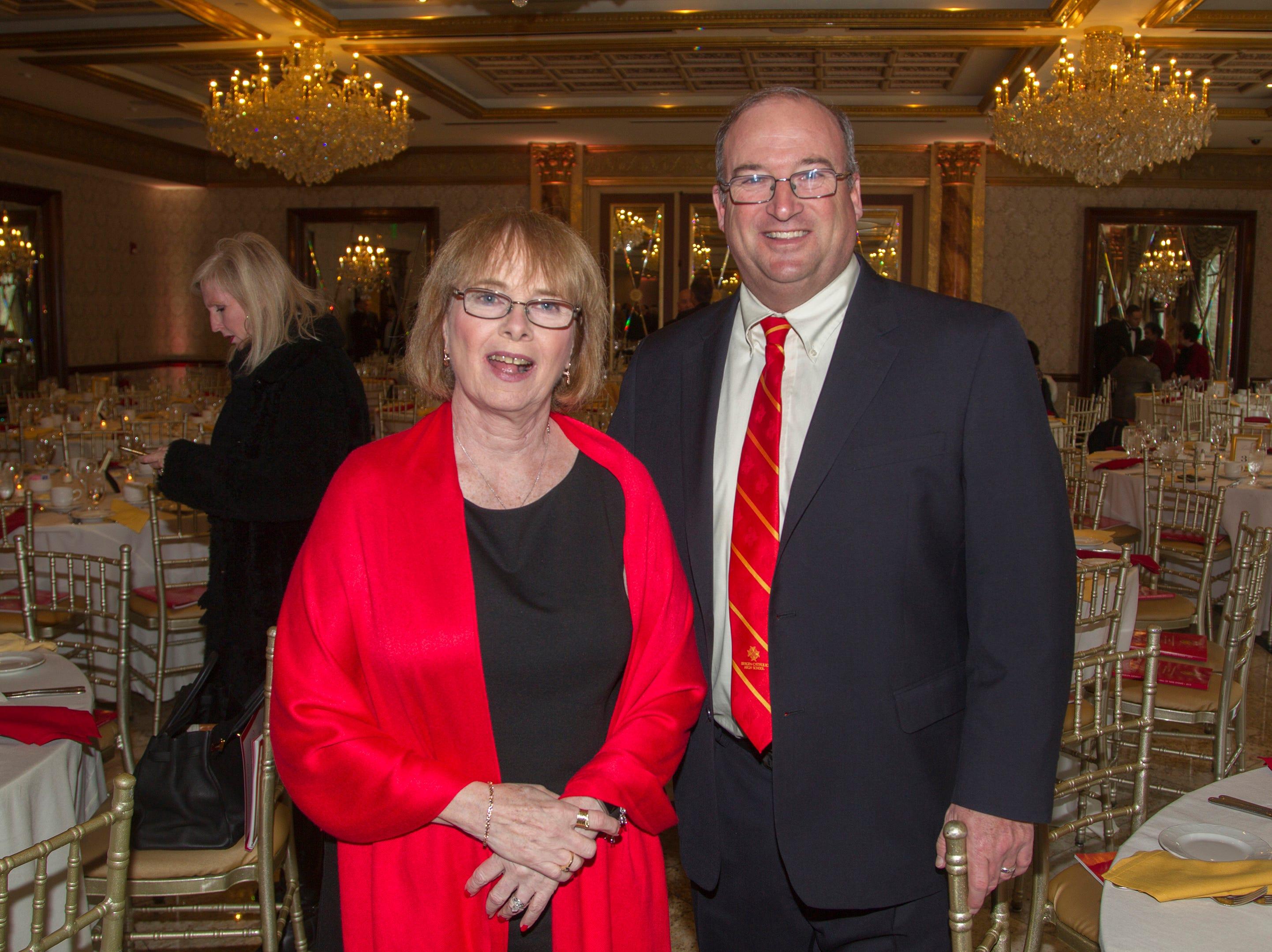 Regina Ardoslovich, Tim McElhinney. Bergen Catholic High School Hall of Fame Dinner at Seasons in Washington Twp. 03/31/2019
