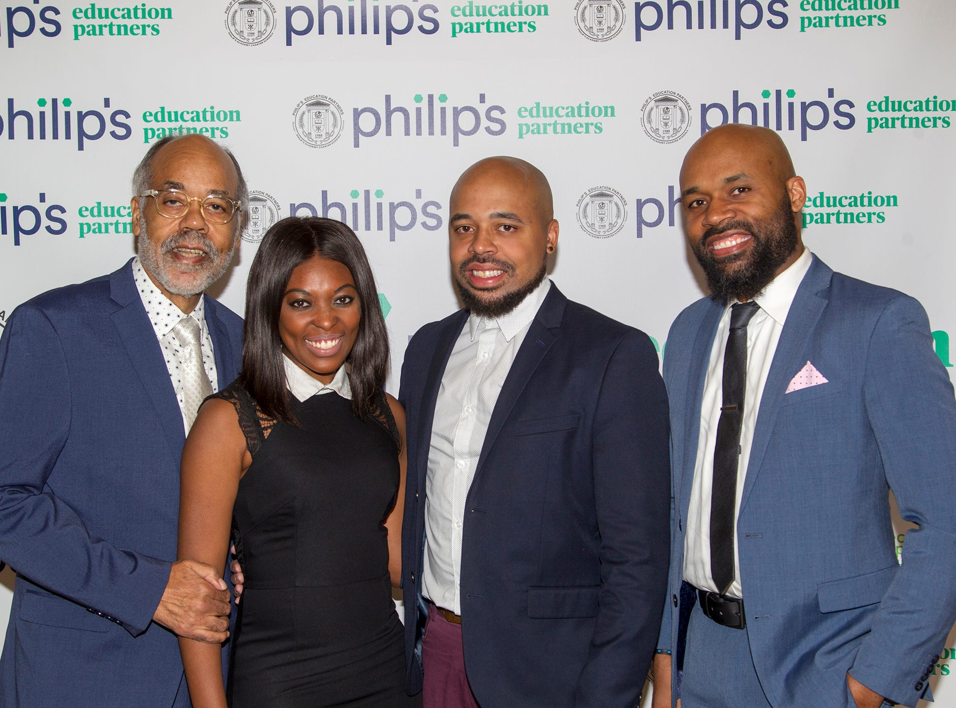 Glenn Rogers, Tahnia Hawkins, Brandon Rogers, Daren Rogers. Philip's Education Partners host The Dream Maker 30th anniversary gala at The Mezzanine in Newark 3/29/2019.