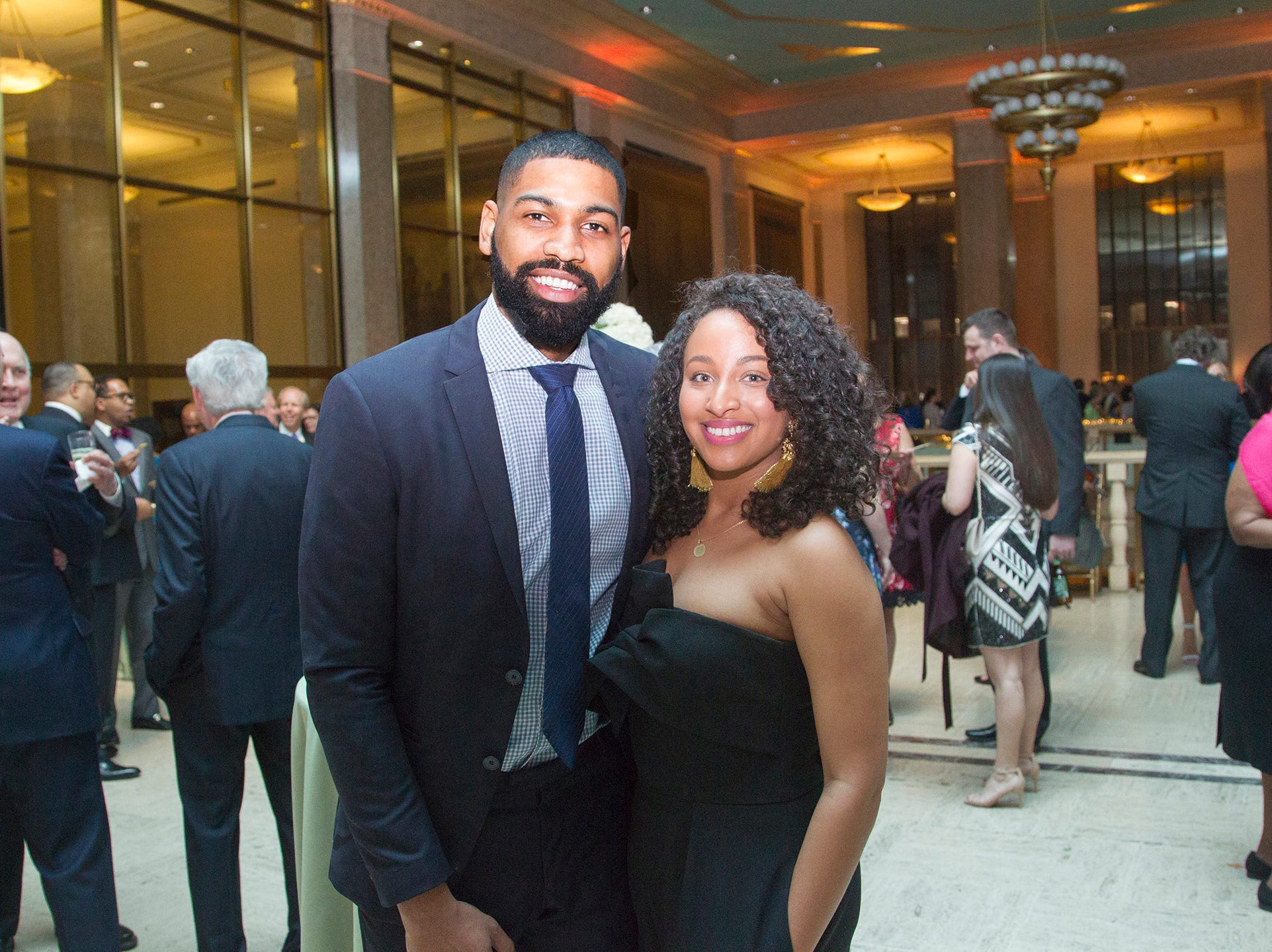 Gasan and Selwa Dickson. Philip's Education Partners host The Dream Maker 30th anniversary gala at The Mezzanine in Newark 3/29/2019.