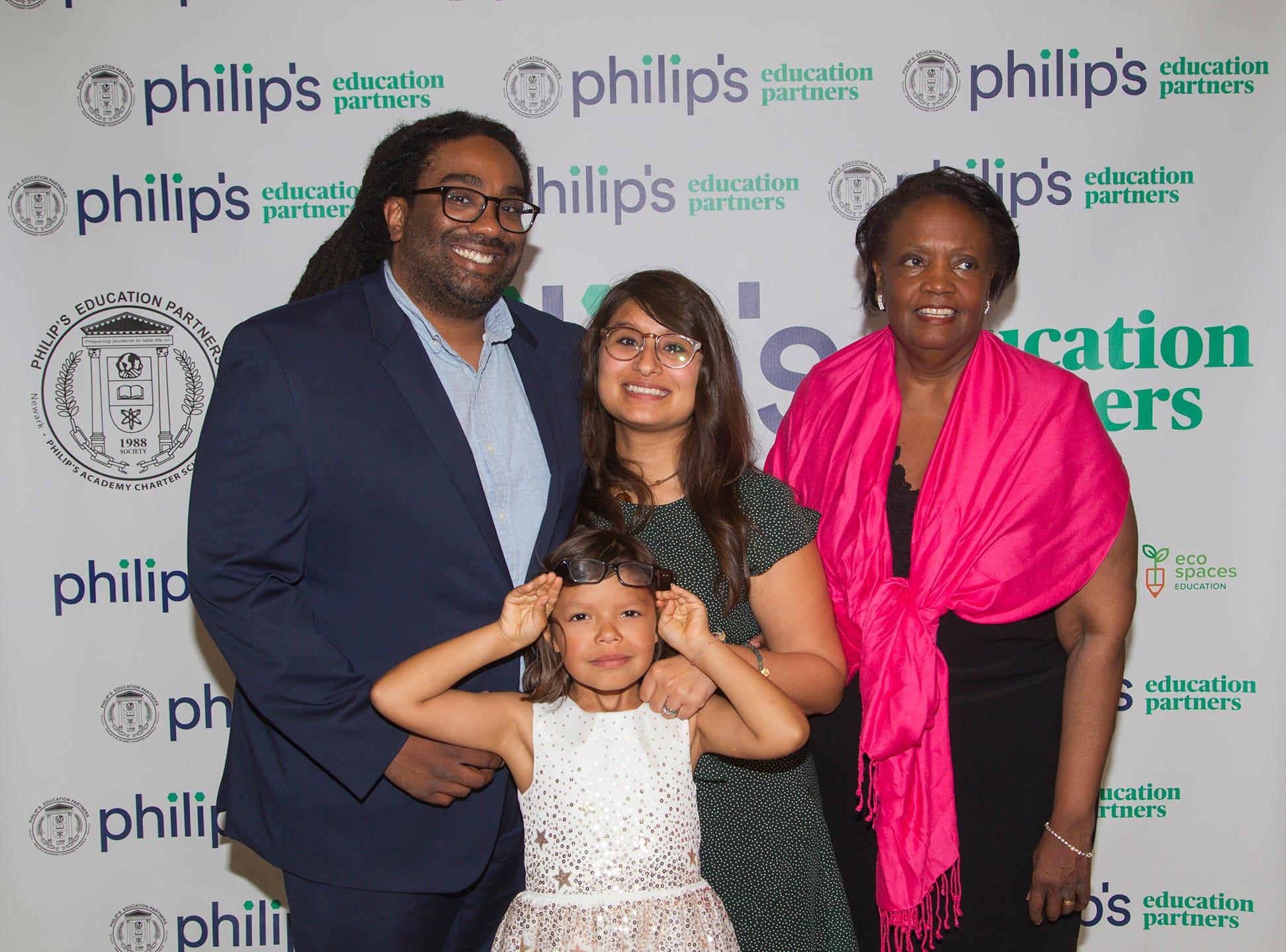 The Hooper family. Philip's Education Partners host The Dream Maker 30th anniversary gala at The Mezzanine in Newark 3/29/2019.