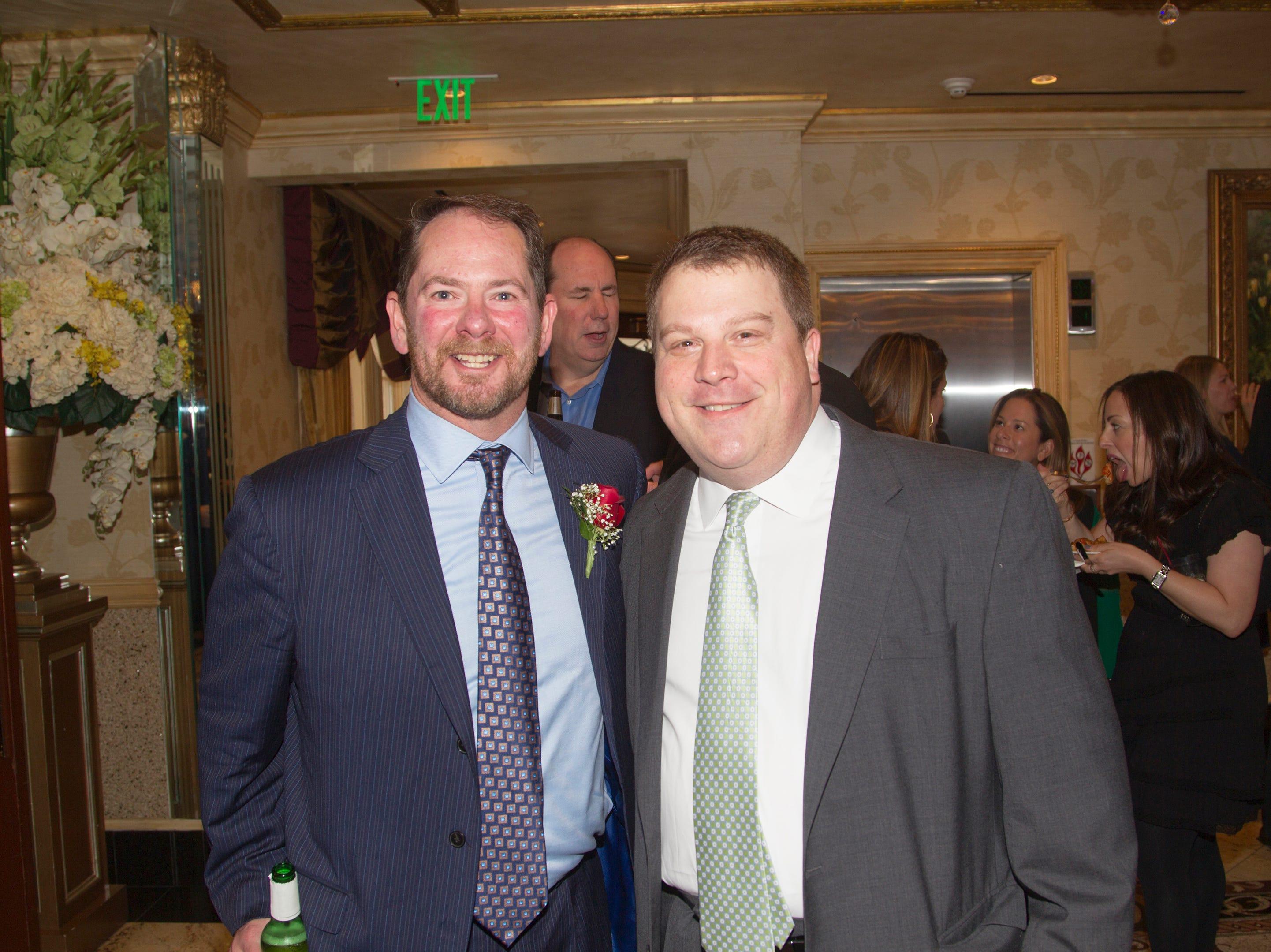 Honoree Rich Tandy, Bob Seco. Bergen Catholic High School Hall of Fame Dinner at Seasons in Washington Twp. 03/31/2019