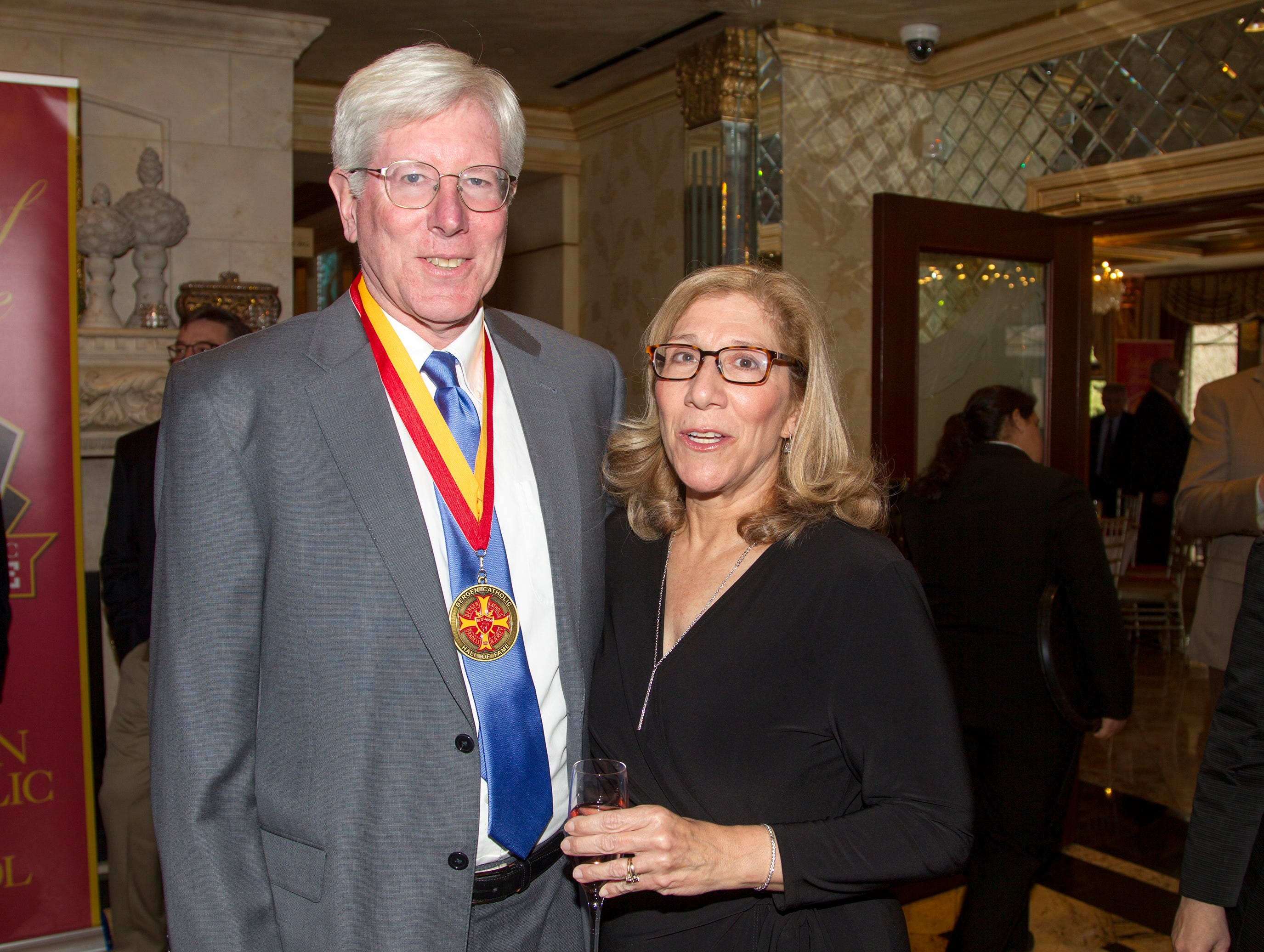 Bill and Anne Leonard. Bergen Catholic High School Hall of Fame Dinner at Seasons in Washington Twp. 03/31/2019