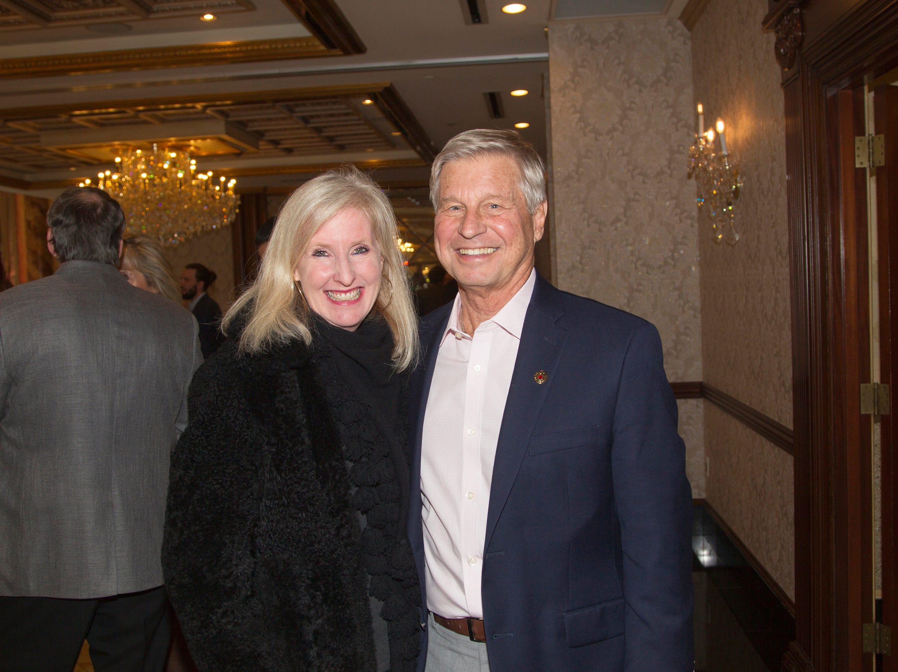 Kelly Price, Doug Sealy. Bergen Catholic High School Hall of Fame Dinner at Seasons in Washington Twp. 03/31/2019