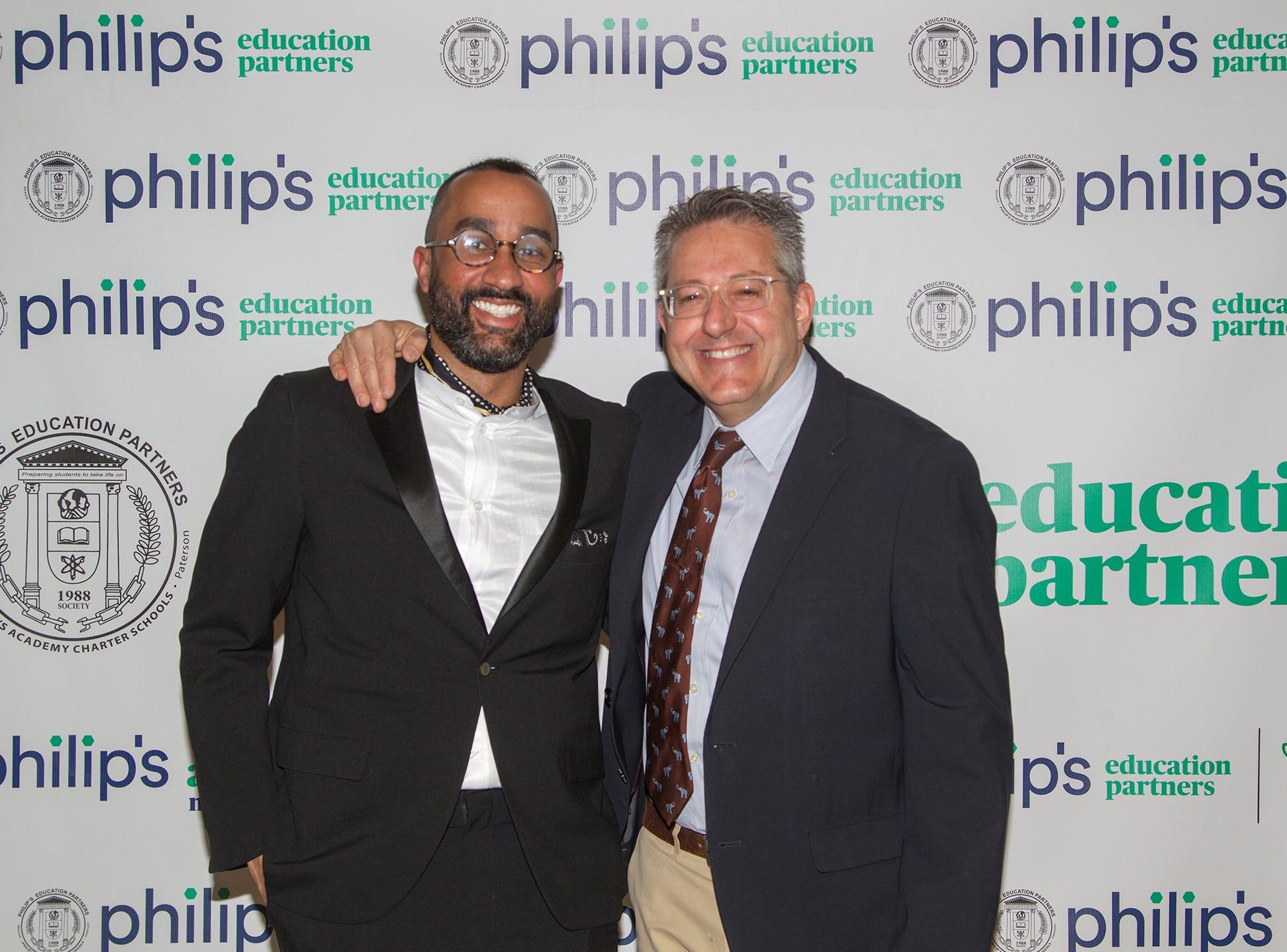 Jayson Council, Ray Graj. Philip's Education Partners host The Dream Maker 30th anniversary gala at The Mezzanine in Newark 3/29/2019.
