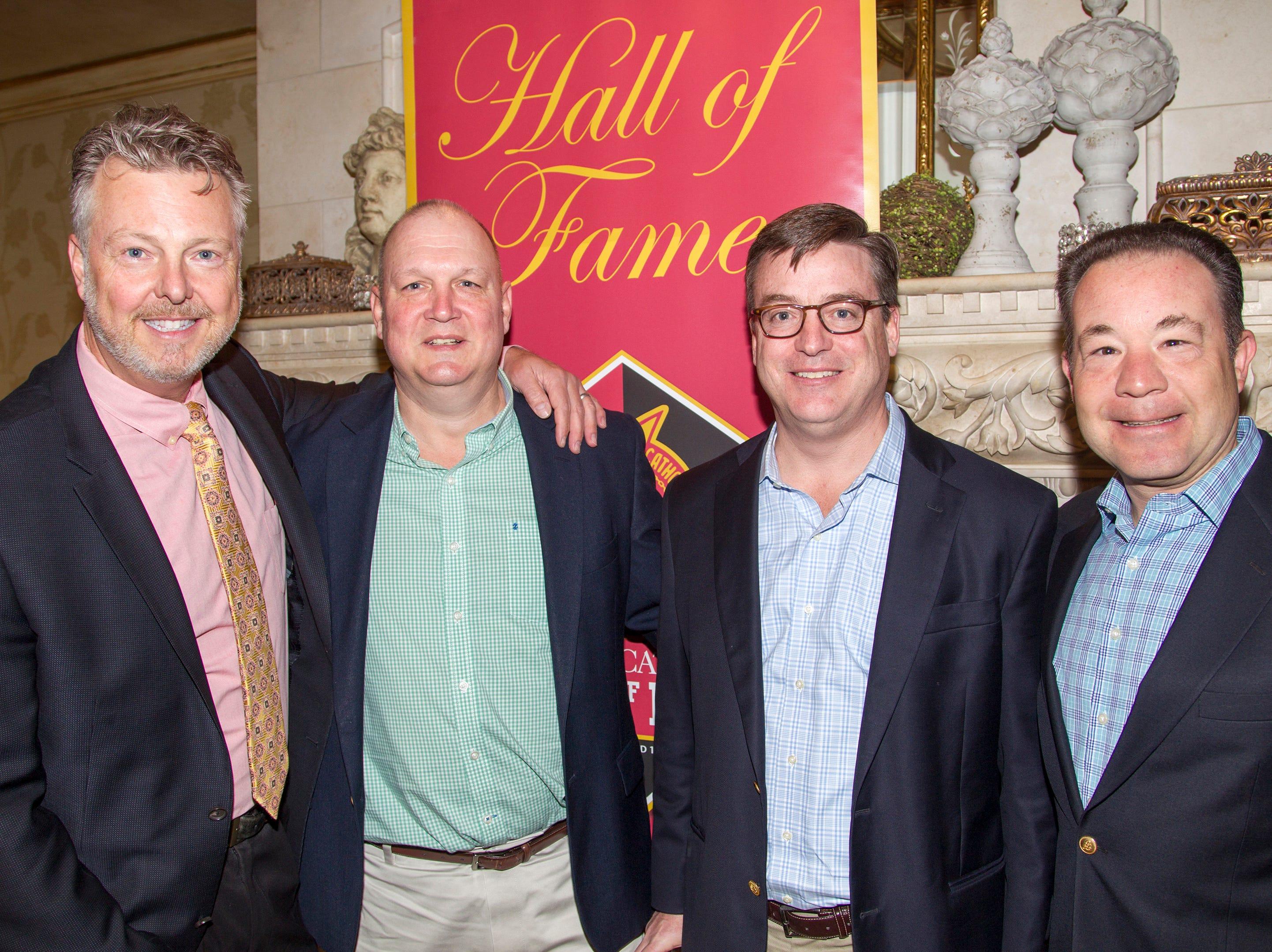 Brian Hughes, Pete Lambell, Matt Monahan, Paul Doherty. Bergen Catholic High School Hall of Fame Dinner at Seasons in Washington Twp. 03/31/2019