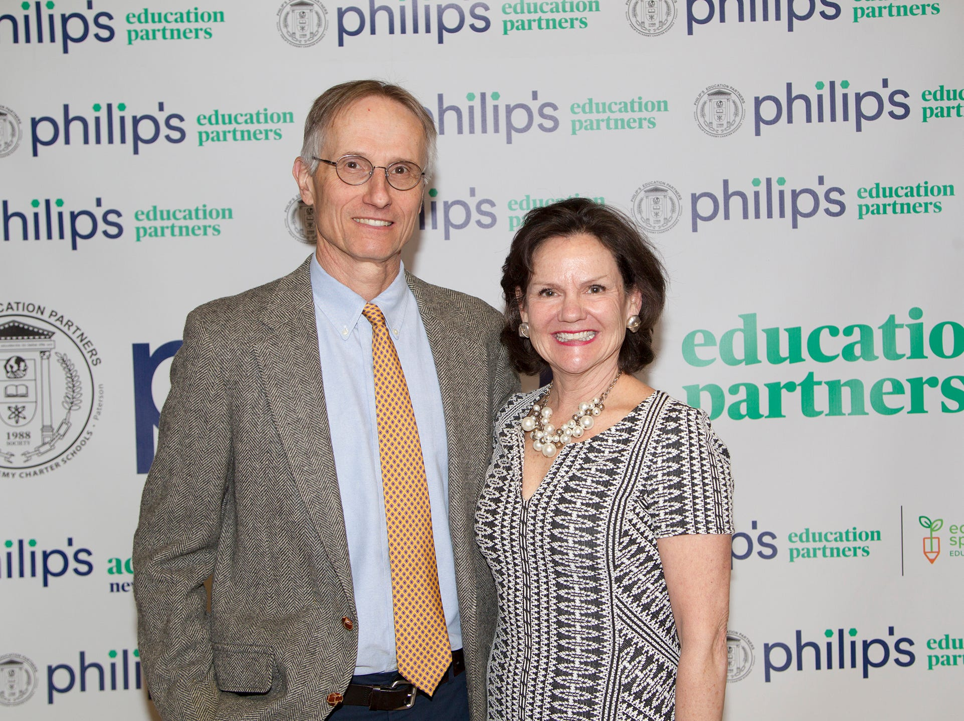 Jon and Sarah Booth. Philip's Education Partners host The Dream Maker 30th anniversary gala at The Mezzanine in Newark 3/29/2019.