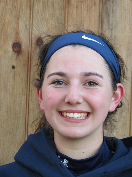 Freshman Taylor Palmieri struck out eight in relief to earn the win in Indian Hills' season-opening 6-5 softball win over Northern Valley at Old Tappan in Old Tappan on Monday, April 1, 2019.