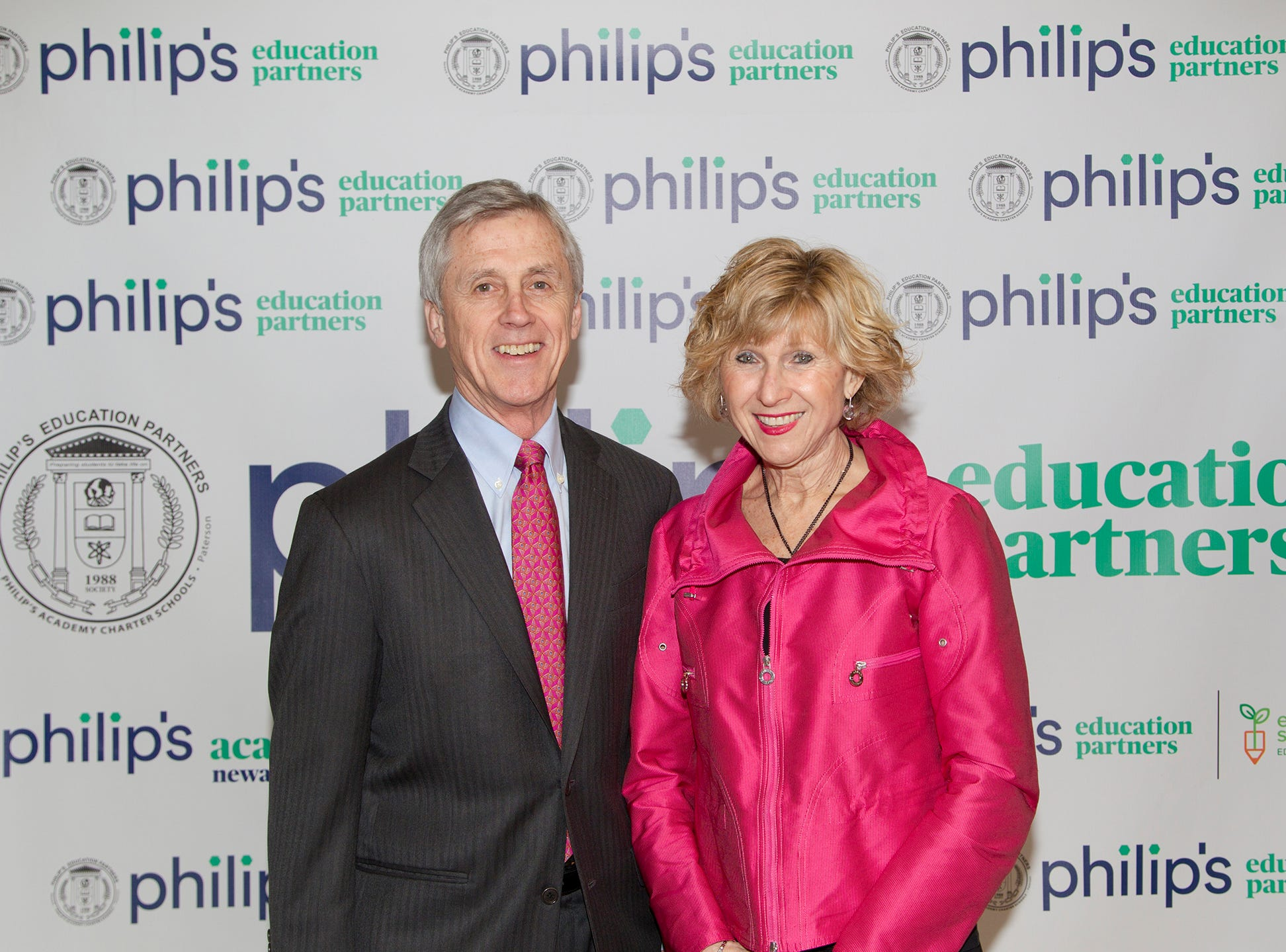 Chris and Bea Daggett. Philip's Education Partners host The Dream Maker 30th anniversary gala at The Mezzanine in Newark 3/29/2019.