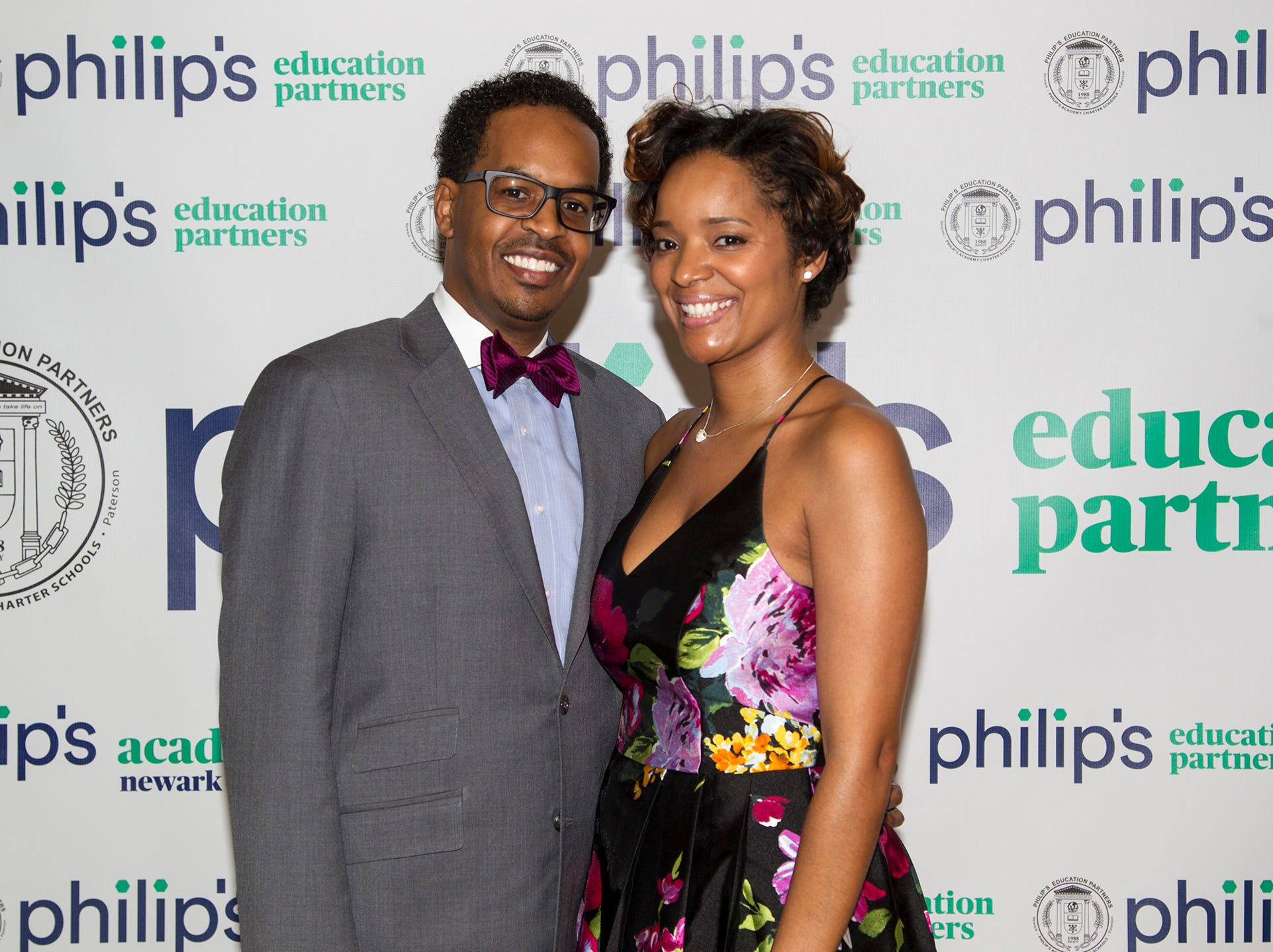 Yasmeen and Schuyler Sampson. Philip's Education Partners host The Dream Maker 30th anniversary gala at The Mezzanine in Newark 3/29/2019.