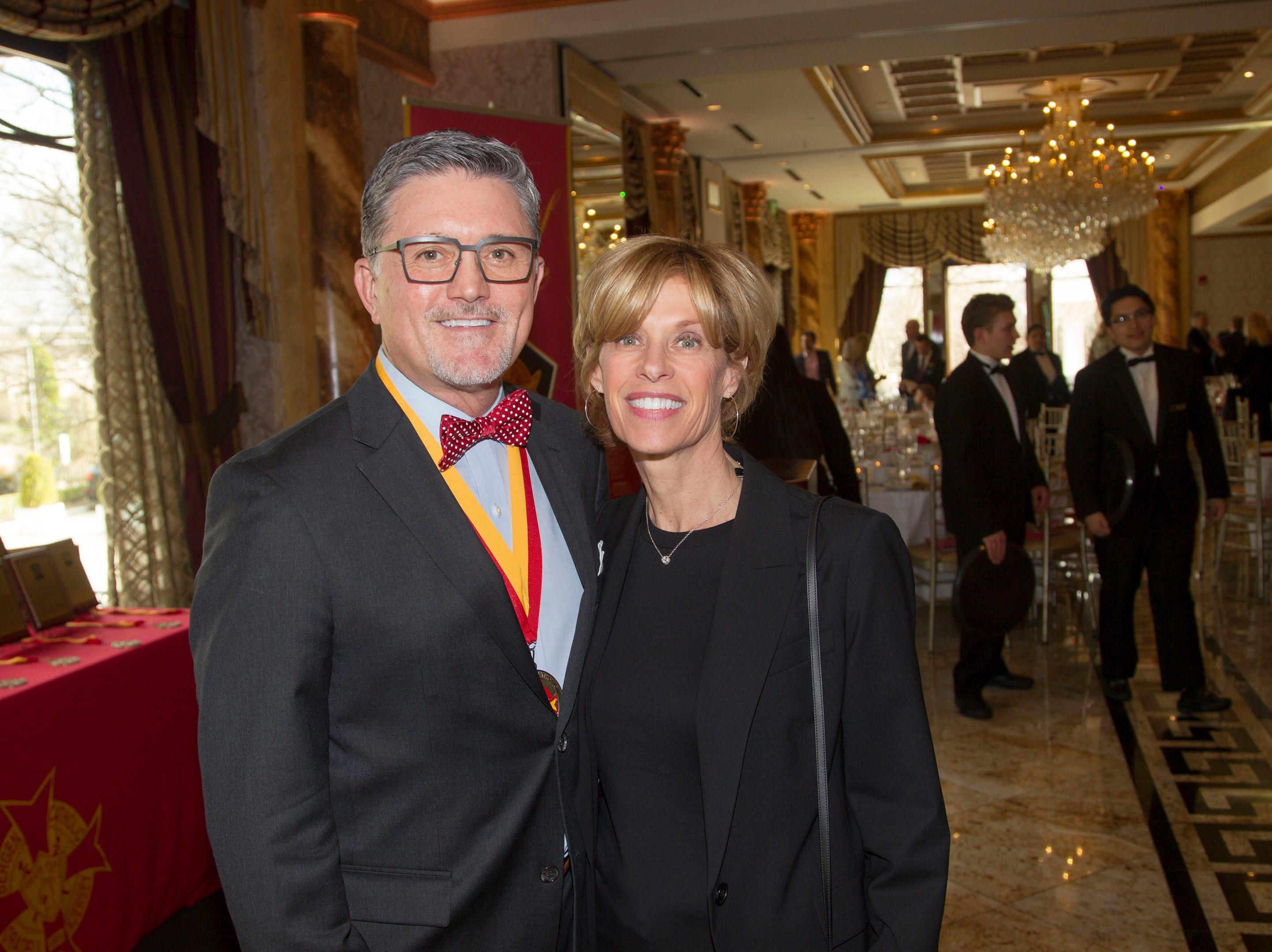 Michael and Susan Haviland. Bergen Catholic High School Hall of Fame Dinner at Seasons in Washington Twp. 03/31/2019