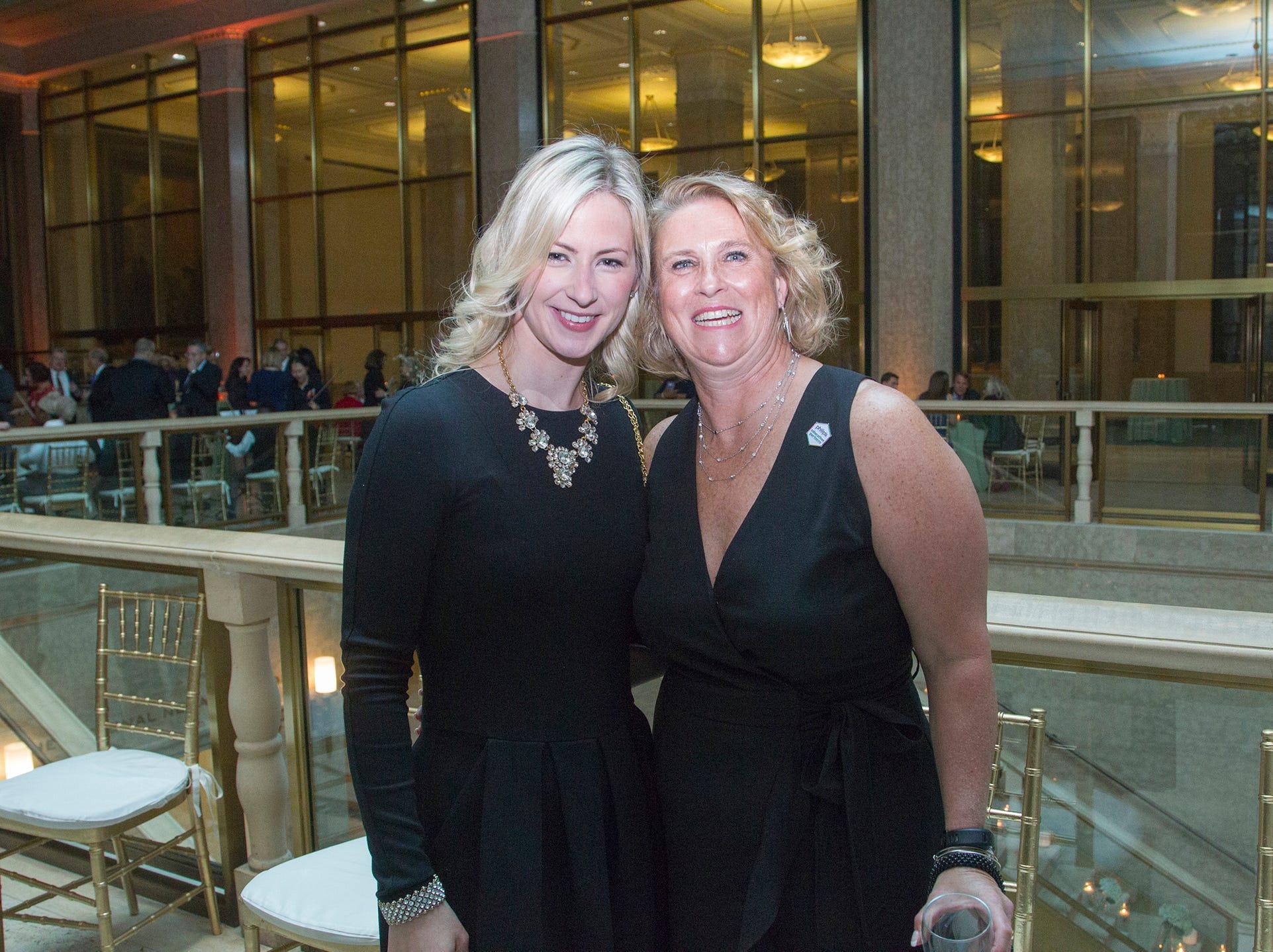 Karen San Giacomo, Cheryl Lowe( Co-Chair). Philip's Education Partners host The Dream Maker 30th anniversary gala at The Mezzanine in Newark 3/29/2019.