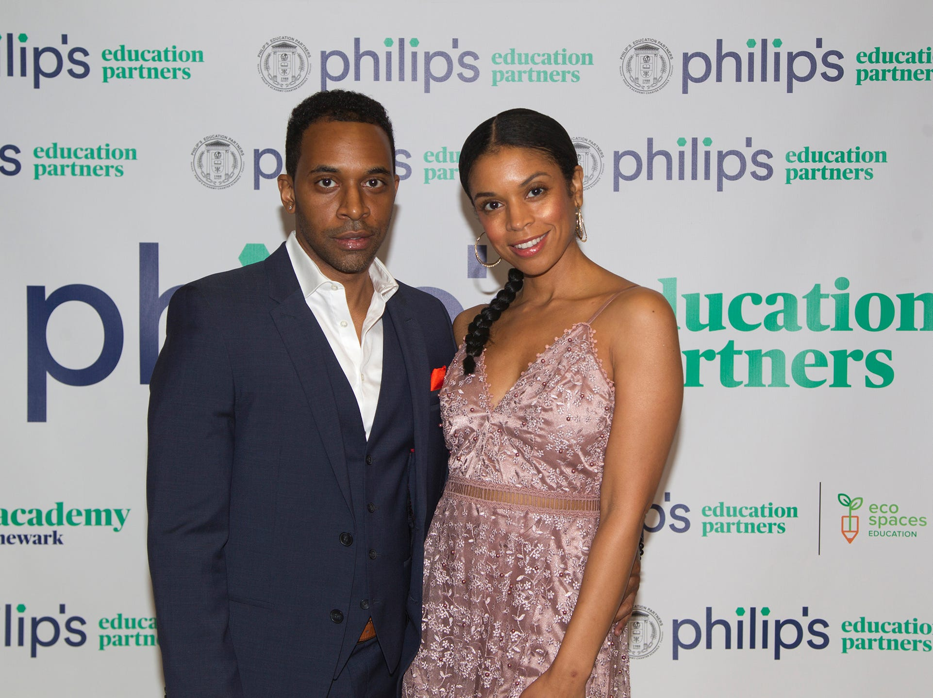 Jaime Lincoln Smith and Susan Kelechi Watson. Philip's Education Partners host The Dream Maker 30th anniversary gala at The Mezzanine in Newark 3/29/2019.