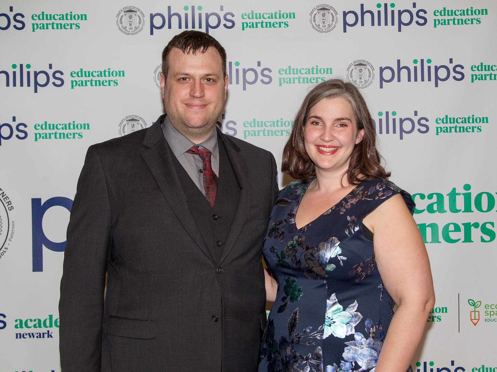Brian Chambers and Thea Heninger-Lowell. Philip's Education Partners host The Dream Maker 30th anniversary gala at The Mezzanine in Newark 3/29/2019.