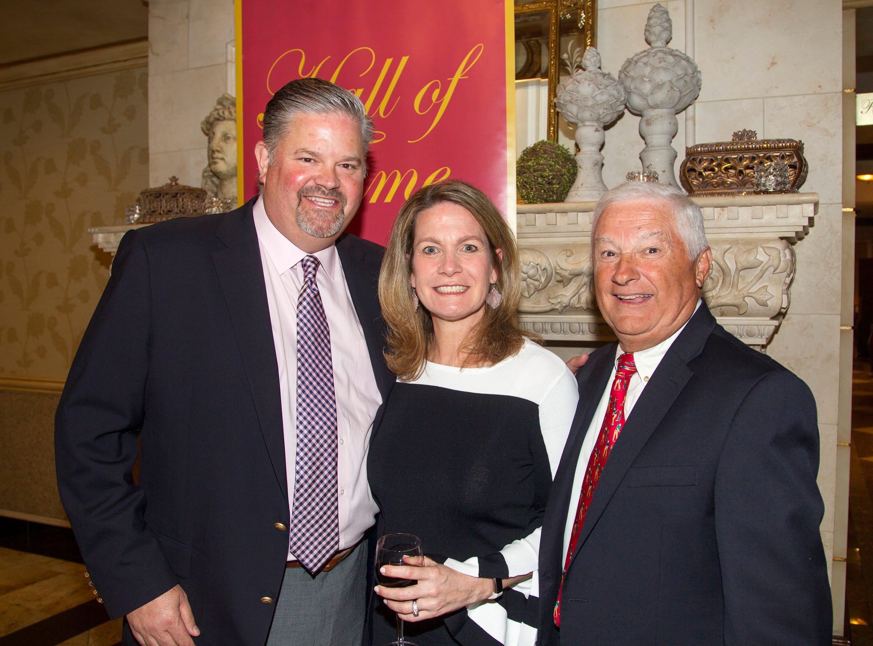 Chris and Melissa Hartigan, Jack O'Reilly. Bergen Catholic High School Hall of Fame Dinner at Seasons in Washington Twp. 03/31/2019