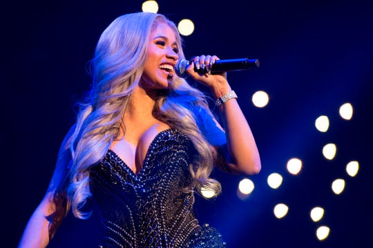 Cardi B performs in New York in this Oct. 26, 2017, file photo.
