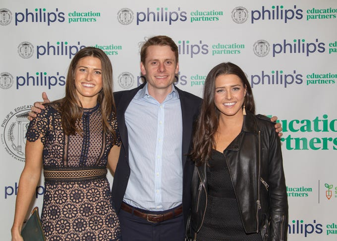 Christina Doherty, Alex Walsh, and Anna Doherty. Philip's Education Partners host The Dream Maker 30th anniversary gala at The Mezzanine in Newark 3/29/2019.