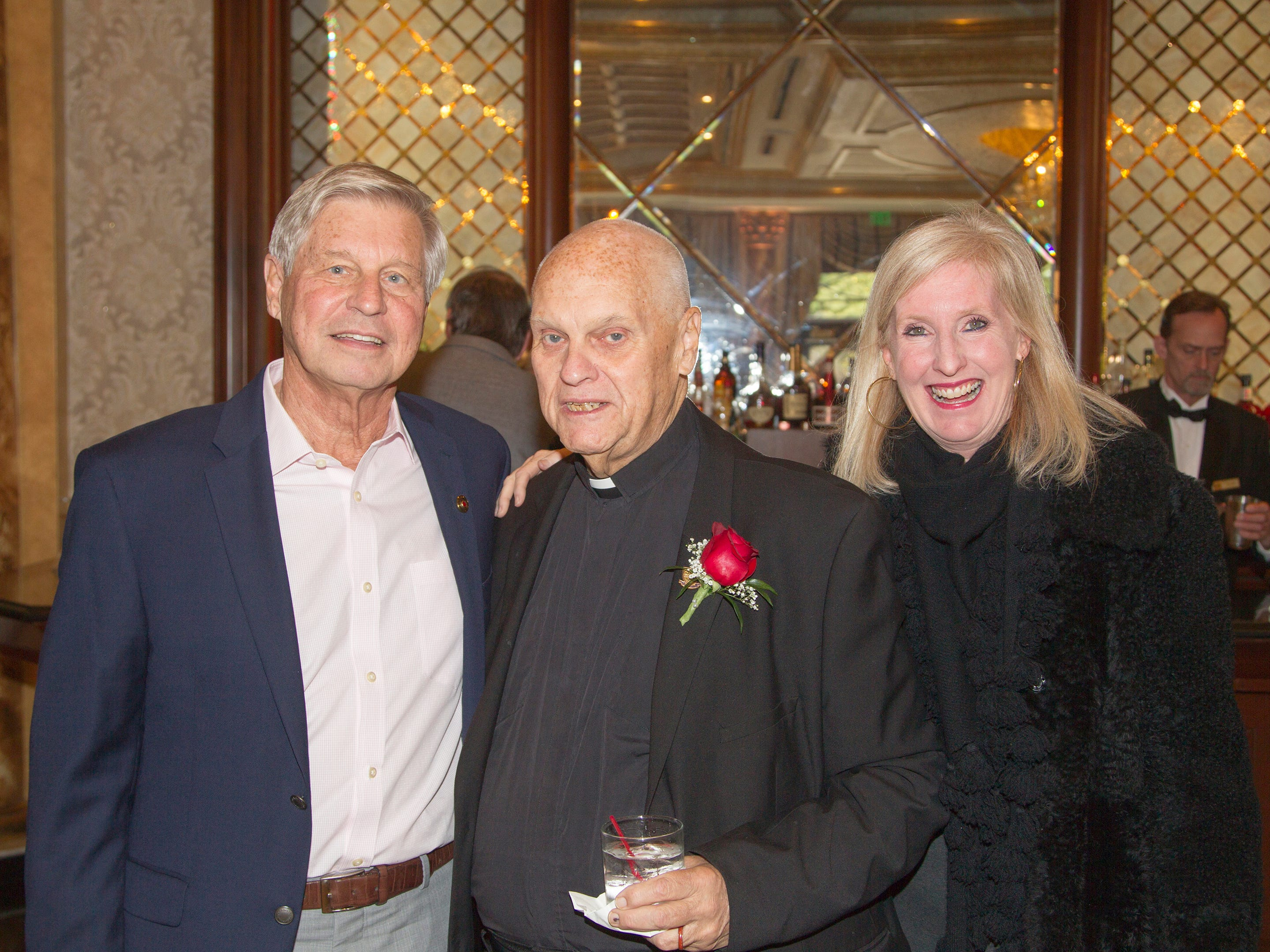 Doug Sealy, Honoree Br. Brian Walsh, Kelly Price. Bergen Catholic High School Hall of Fame Dinner at Seasons in Washington Twp. 03/31/2019