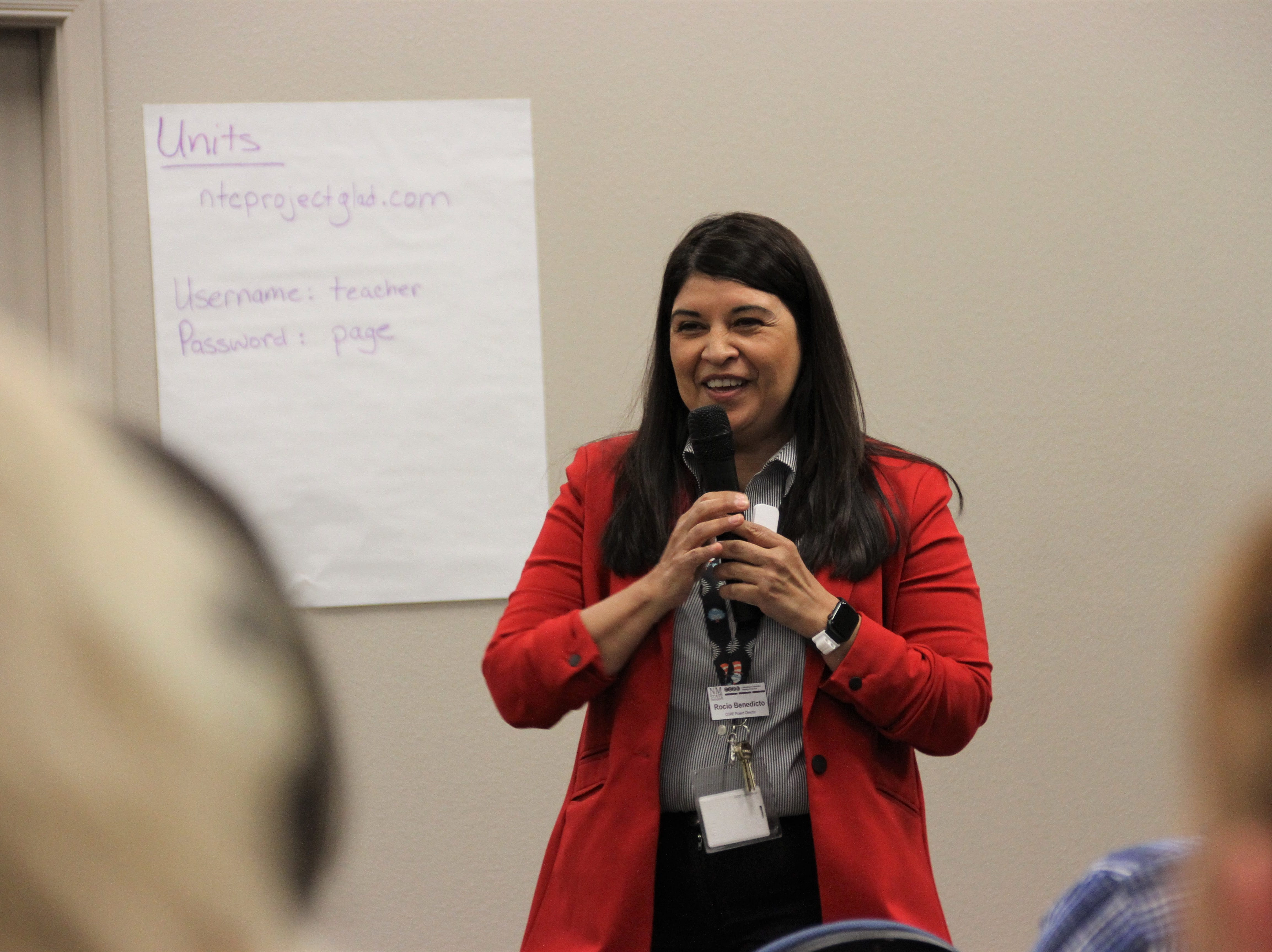 New Mexico State University's Collaborating for Outstanding Readiness in Education Project Director Rocio Benedicto.