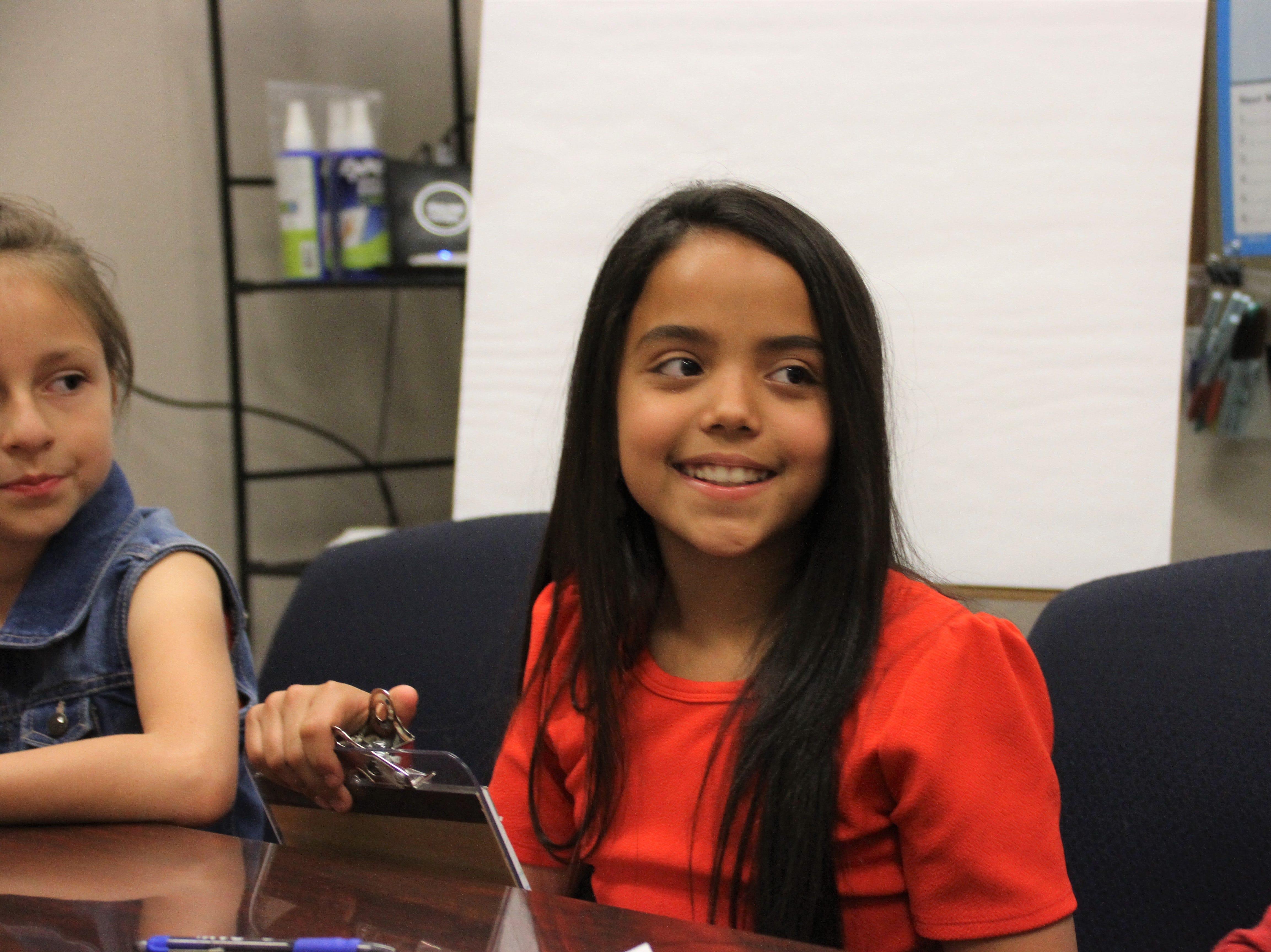Bella Wyman, 11, of Bell Elementary School.